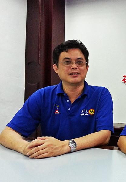 砂人联党青年团总团长陈开。