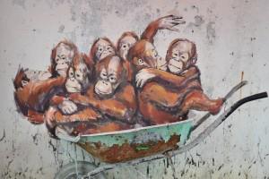 栩栩如生的人猿。