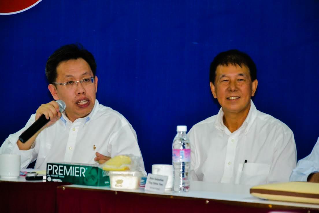 President, Senator Datuk Dr. Sim Kui Hian and Secretary General, Dato' Sebastian Ting.