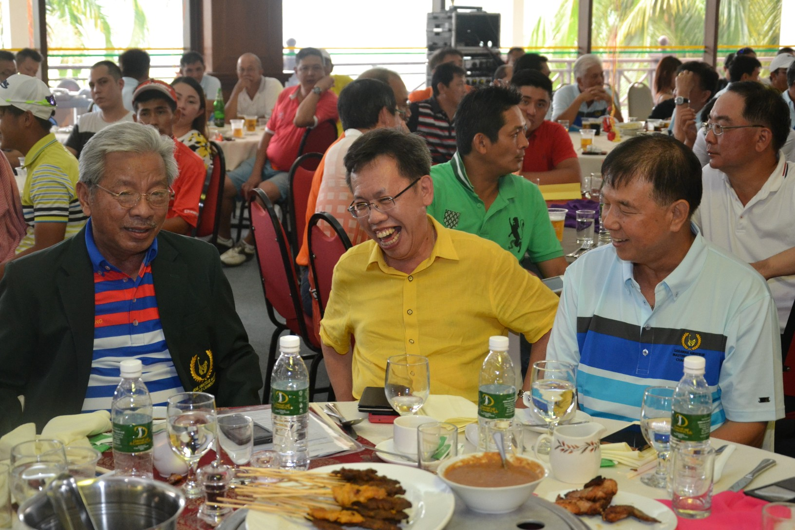 Masing, Dr Sim and Dato' Sebastian Ting at the golf game.