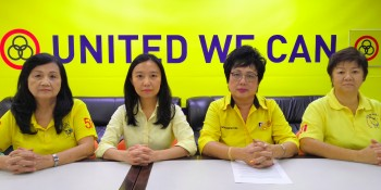From left, SUPP Kota Sentosa Branch Women Section Deputy Chairman Wong Pick Ang, SUPP Women Chief Kho Teck Wan, SUPP Women Section Advisor Datin Jennifer Alice Chee Moinie and Committee Sim Bee Kim.